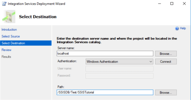 deploy SSIS packages